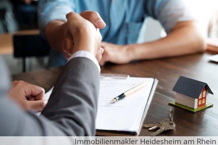 Immobilienmakler vermittelt Immobilie in Heidesheim am Rhein.