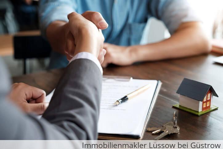 Immobilienmakler vermittelt Immobilie in Lüssow bei Güstrow.