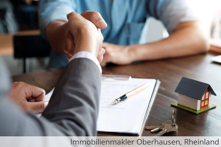 Immobilienmakler vermittelt Immobilie in Oberhausen, Rheinland.
