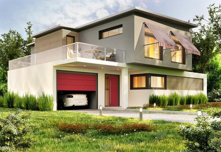 Modernes Haus.